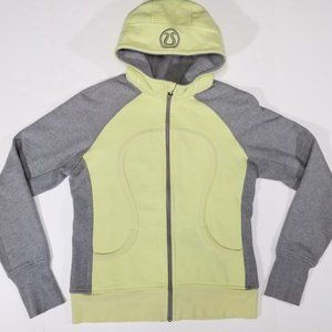 Lululemon Grey & Yellow Two-Tone Scuba Hoodie